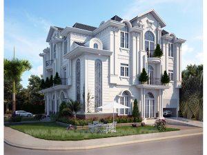Một số mẫu biệt thự kiểu pháp đẹp hiện đại