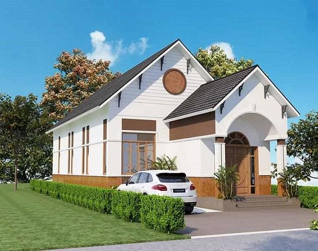 giá xây nhà cấp 4 mái thái đẹp
