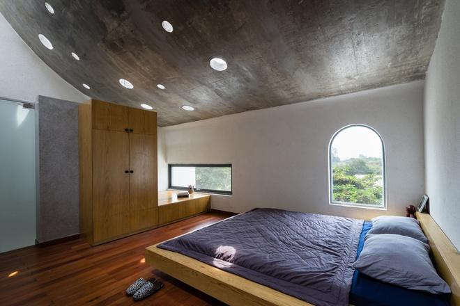 Thiết kếkiến trúc nhà đẹp 2 tâng cho phòng ngủ