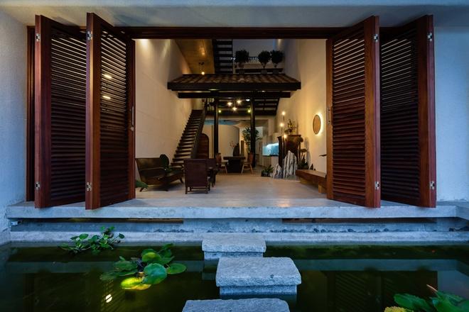 Thiết kếkiến trúc nhà đẹp 2 tâng cho phòng khách