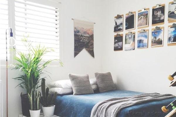 tự trang trí phòng ngủ đơn giản